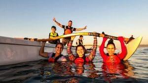 passeio de canoa havaiana pontal do recreio