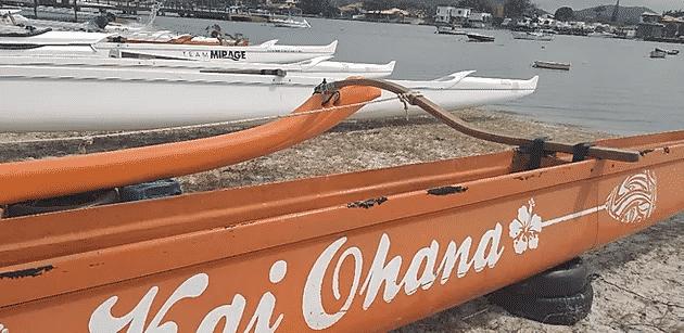 Canoa Havaiana Lanakila foi a primeira a desembarcar Brasil