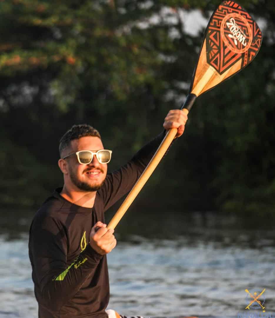 remo de canoa havaiana woodz