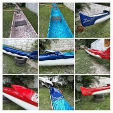 Fabricação artesanal de canoa havaiana