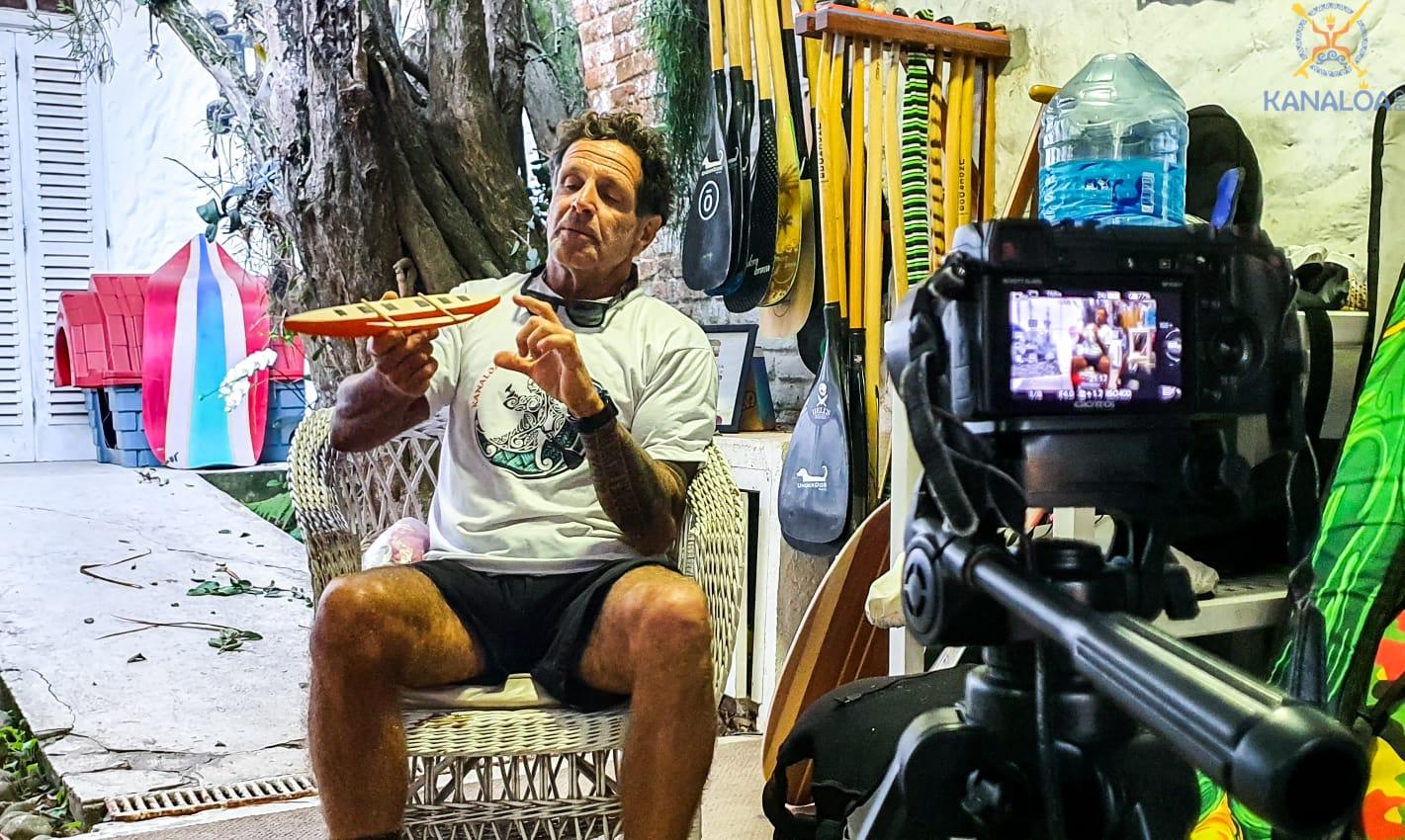 Clínica de Surf de Canoa Havaiana com o mestre Waguinho da Kanaloa Vaa Saquarema